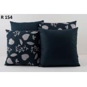 Almofadas Decorativas Quarteto Kit com 4- Azul Escuro
