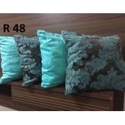 Almofadas Decorativas Quarteto kit com 4 tecido em Jaguard- Cor 34