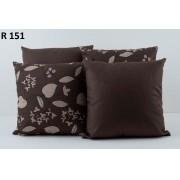 Almofadas Decorativas Quarteto Kit com 4- Marrom Escuro