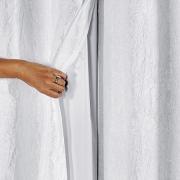 Blackout Cortina P.V.C. Com Voil Cetim Amassado 2,70m x 2,30m Branco