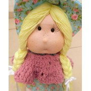 Boneca de Pano Luluzinha do Campo- 35 cm