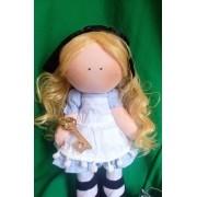 Boneca de Pano Russa Alice no País das Maravilhas- 35cm