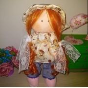 Boneca de Pano Russa Ruiva- 35cm