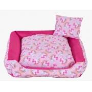 Cama para Cães e Gatos Unicolors Rosa- Tam M