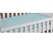 Capa De Colchão Decorale Malha Berço - Azul Bebê - 1 Pç