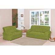 Capa para Sofá de 2 e 3 Lugares tecido de Malha em Gel com Elásticos - Verde