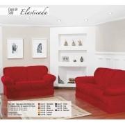 Capa para Sofá de 2 e 3 Lugares tecido de Malha em Gel com Elásticos - Vermelho