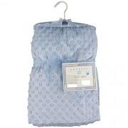 Cobertor Sweet Baby Rosa Com Bolinhas Para Bebê 1,50m x 1,00m - Azul