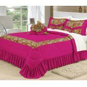 Cobre Leito Casal Queen Amazon 6 peças- Pink