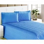 Cobre Leito Casal Queen Clean 04 Peças com Lençol de Baixo- Azul