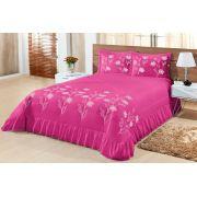 Cobre leito King Lírio 03 peças- Pink