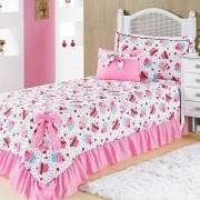Colcha Solteiro Infantil Para Meninas Laila Cupcake Pink