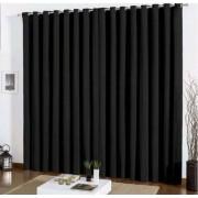 Cortina Blackout Corta Luz em tecido 3,00 x 2,80m- Preto