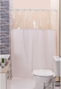 Cortina para Box de Banheiro com Visor