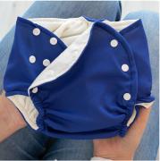 Fralda Ecológica e de Piscina Reutilizável com Absorvente Bebê -Marinho