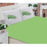 Jogo de Lençol Casal- Folha Verde