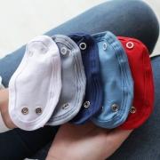 Kit 5 Peças Extensor de Body 3 Botões Malha Branco, Cinza, Marinho, Azul Bebê e Vermelho