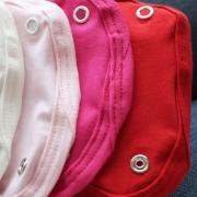 Kit 5 Peças Extensores de Body 2 Botões Malha Branco, Palha, Rosa, Pink e Vermelho