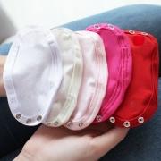 Kit 5 Peças Extensores de Body 3 Botões Malha Branco, Palha, Rosa, Pink e Vermelho