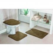 kit banheiro 03 peças liso - castor