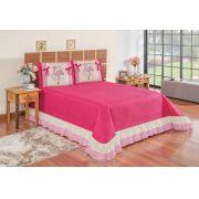 Kit Flamingo Casal Queen 5 Peças- Pink