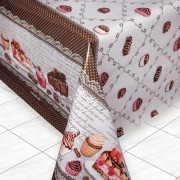 Toalha de Mesa Térmica 1,4 m x 1,5 m 4 lugares Cup Cake