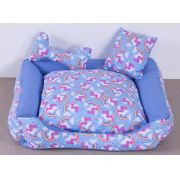 Cama para Cães e Gatos Unicolors Azul- Tam P