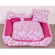 Cama para Cães e Gatos Unicolors Rosa- Tam G