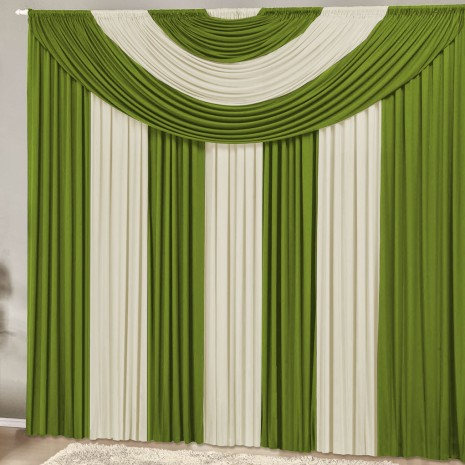 Cortina Suprema 2,00 x 1,70 metros -  Verde com Palha