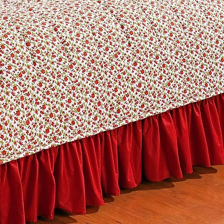 Colcha Casal Queen Doce Lar Algodão  Percal 150 Fios - vermelha