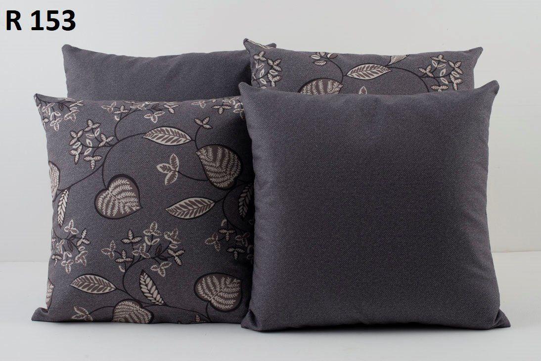 Almofadas Decorativas Quarteto Kit com 4- Cinza Escuro