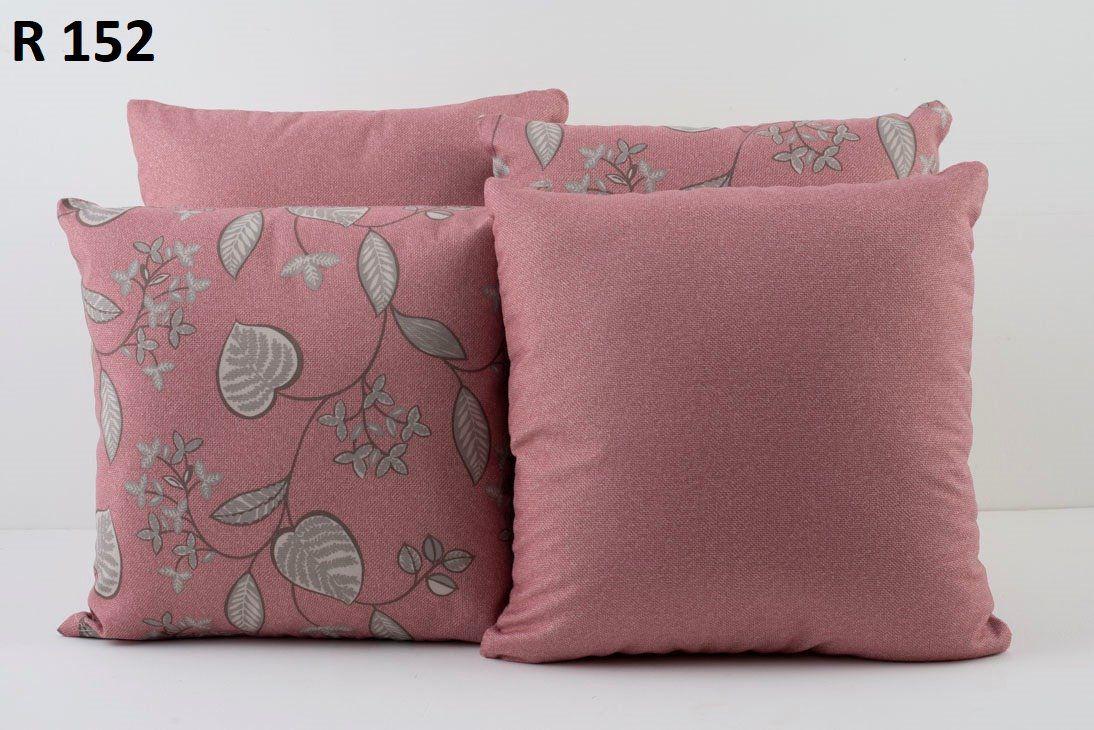 Almofadas Decorativas Quarteto Kit com 4- Rosa