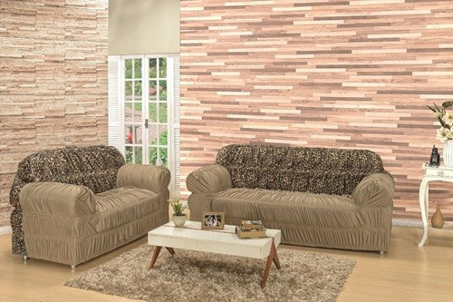 Capa para sofá de 2 e 3 lugares com Elástico Azul