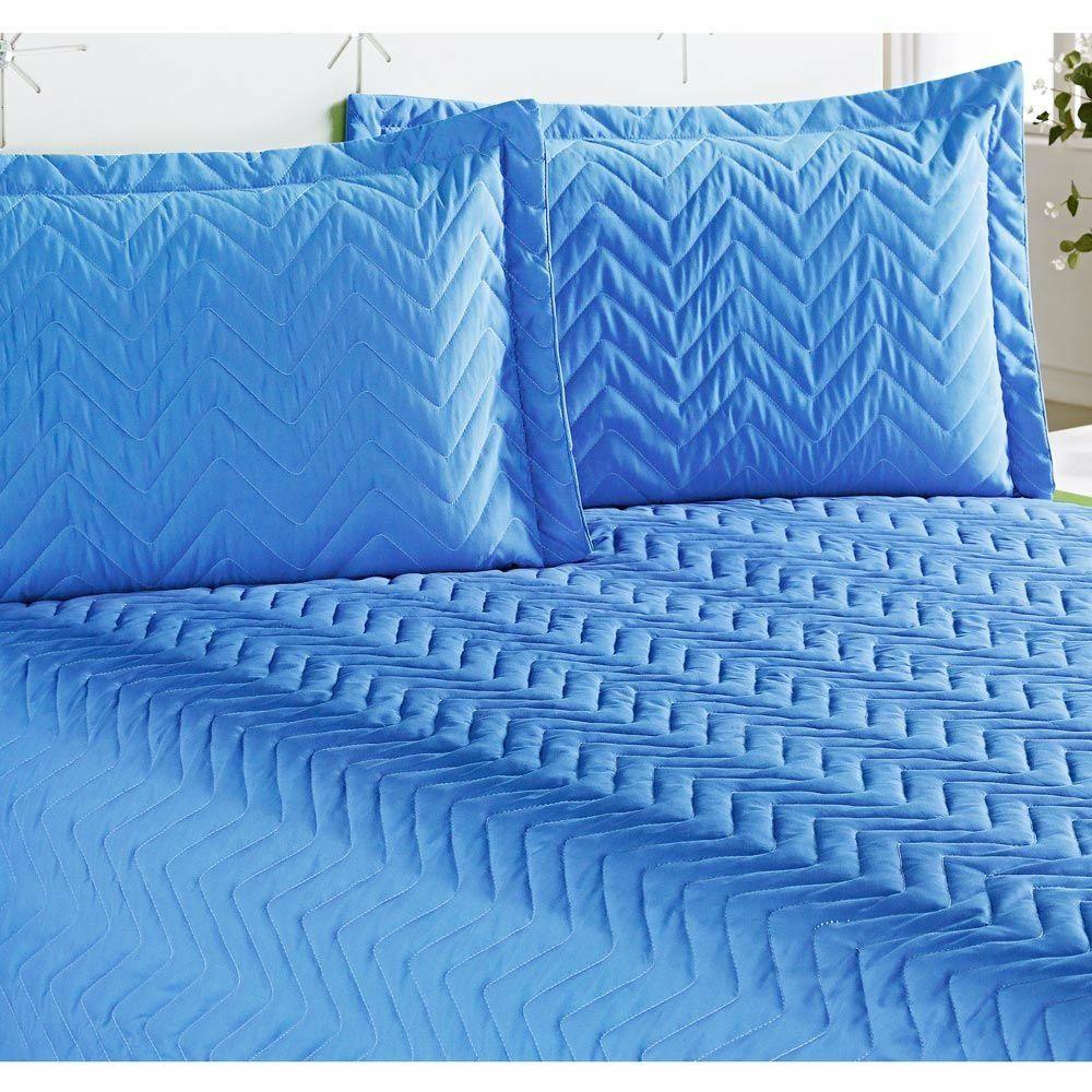 Cobre Leito Casal Padrão Clean 04 Peças com Lençol de Baixo- Azul