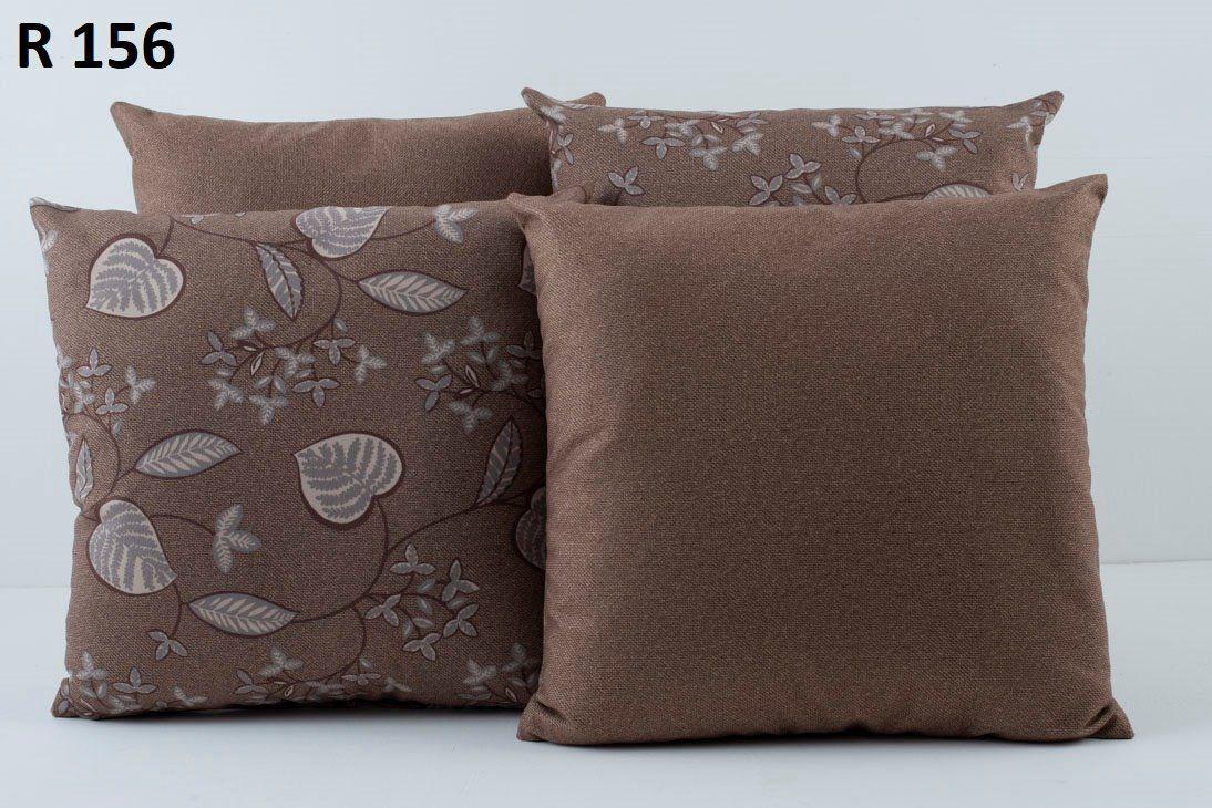 Almofadas Decorativas Quarteto Kit com 4- Marrom
