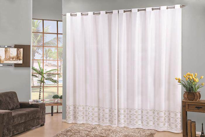 Cortina Elegance 2 x 1.70m- Branco