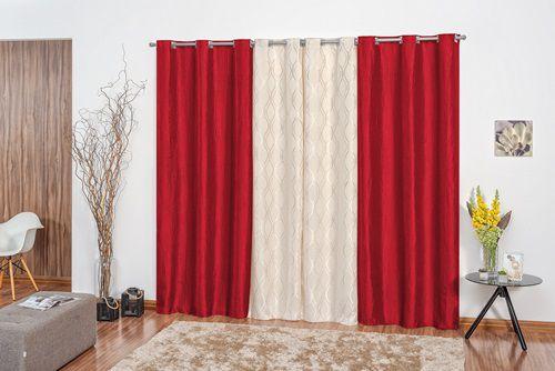 Cortina Malibu 3,00m x 2,50m - Vermelho