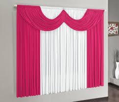 Cortina Paris - Tam. 2,00 x 1,70 metros - Pink com Branco