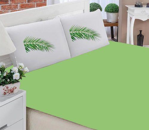 Jogo de Lençol Queen- Folha Verde
