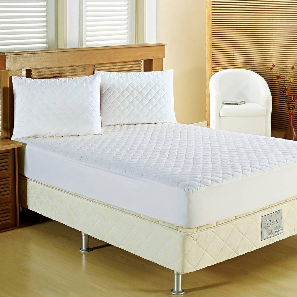 Protetor de Colchão 248x198cm Sleep Casal Branco - Casaborda Enxovais