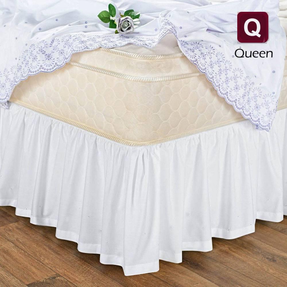 Saia Box Cama Queen Com Elástico Branca