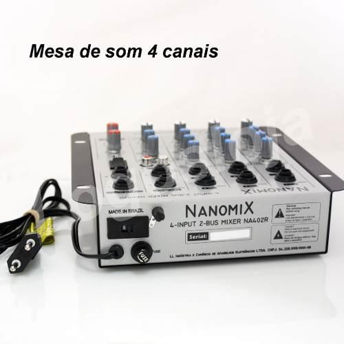Mesa de som  Nanomix Na402r, 4 canais