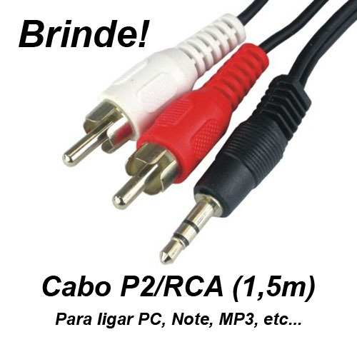Caixa acústica amplificada Cubo Guitarra Violão Microfone Pc Lx40