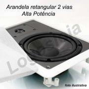 Caixa Acústica arandela de embutir retangular 120W