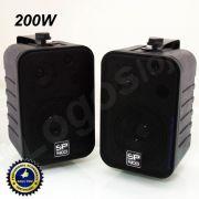 Caixa acústica som ambiente SP400 200W / 60Wrms  com suporte (par)