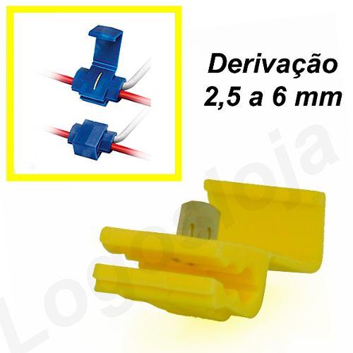 Conector de derivação Amarelo emenda P/ Cabos Fios (50 Pçs)