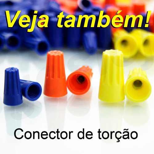Conector de derivação Vermelho emenda P/ Cabos Fios 0,75 a 1,5mm² (50 Pçs)
