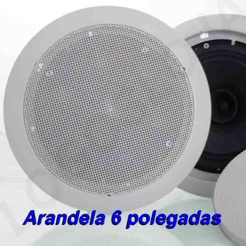 Kit Som Ambiente Amplificador 3 setores e 6 Arandelas 55W e fio