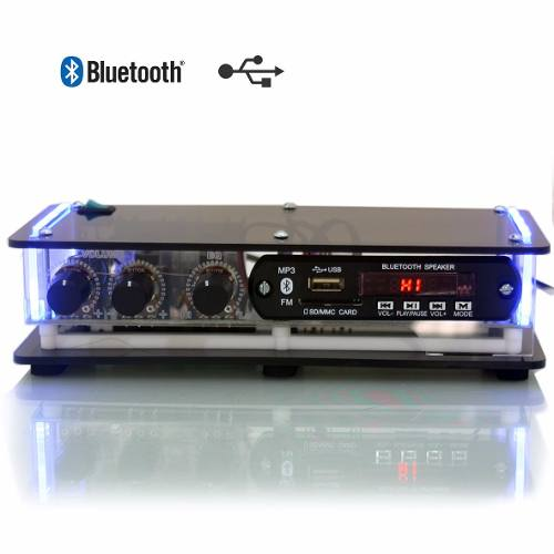 Amplificador XTR SLIM 1002 BT 20W com USB/FM/BLUETOOTH