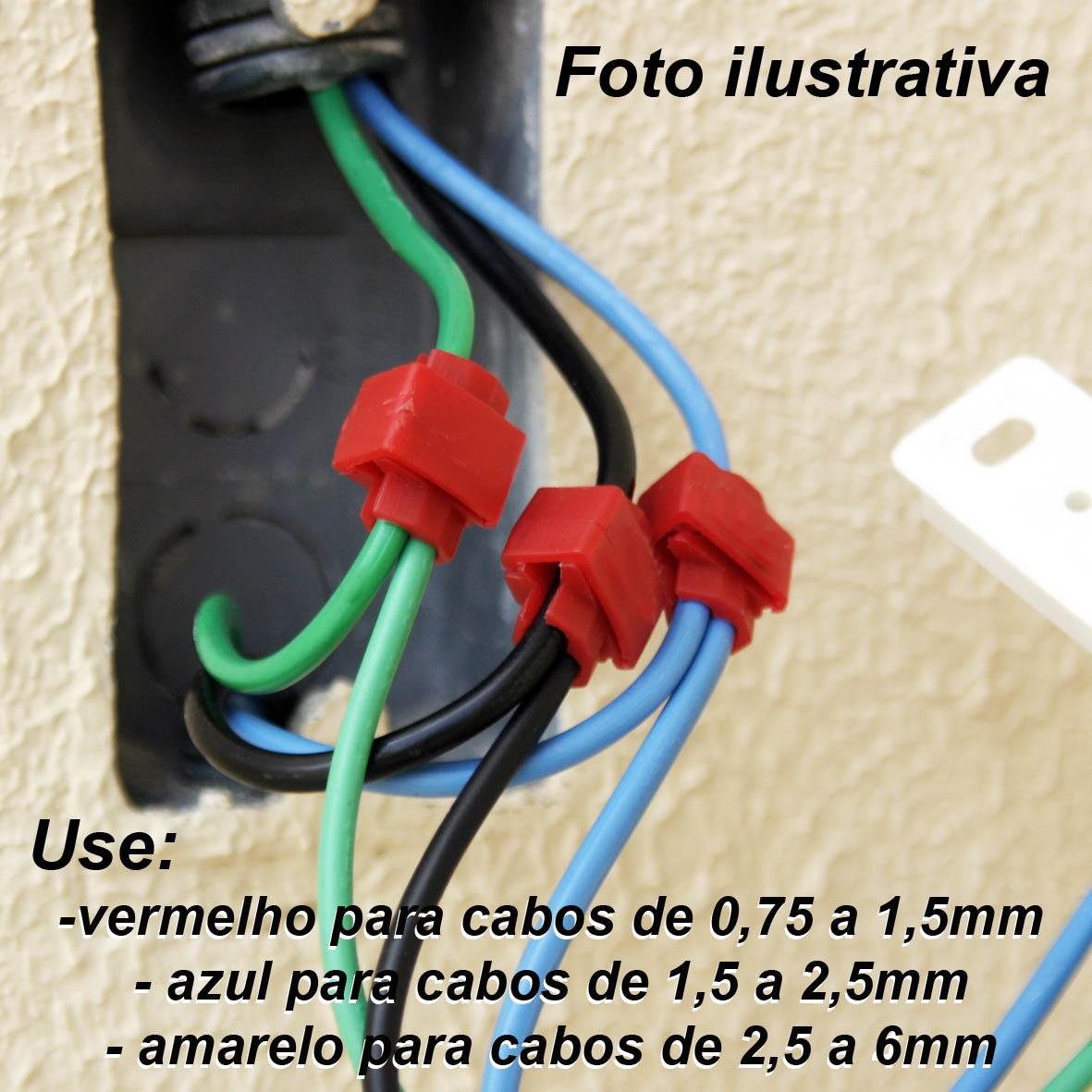 Conector De Derivação Emenda P/ Cabos Fios Kit com 120 peças